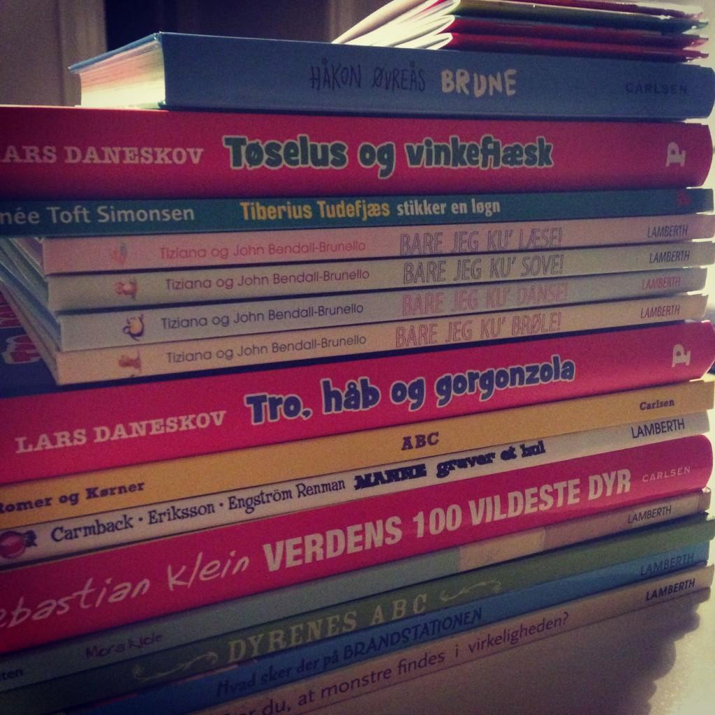 Det var tungt men herligt at slæbe bøger hjem.